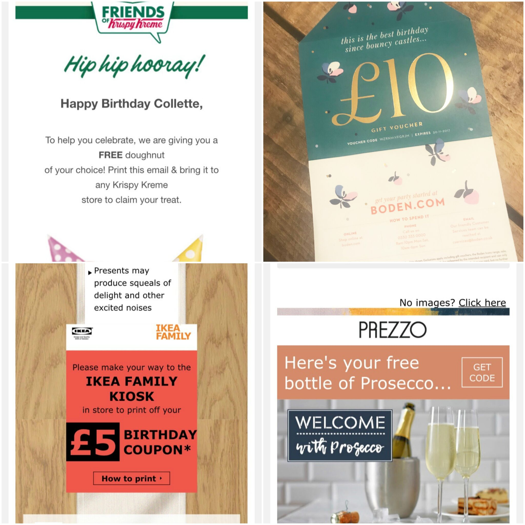 More birthday freebies