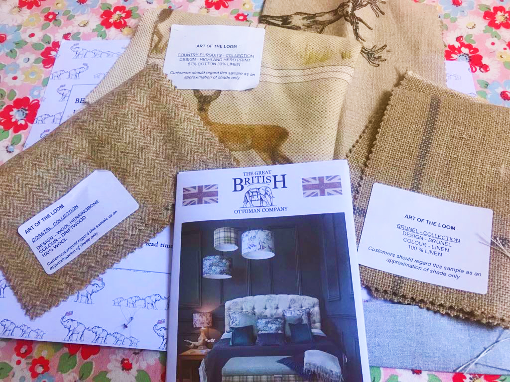 free British fabric samples