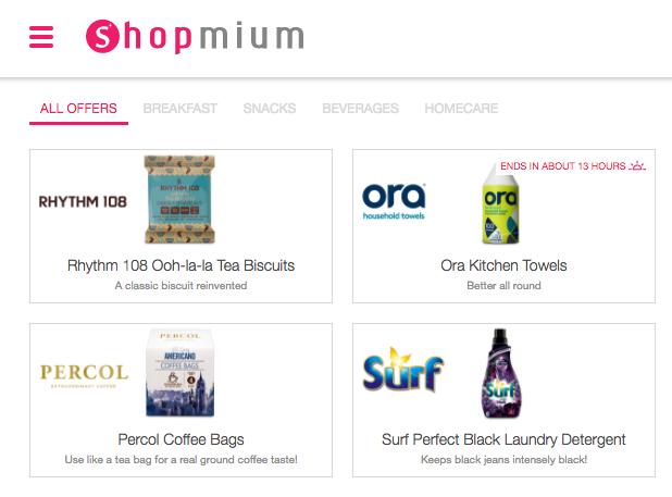 Shopmium supermarket cashback app