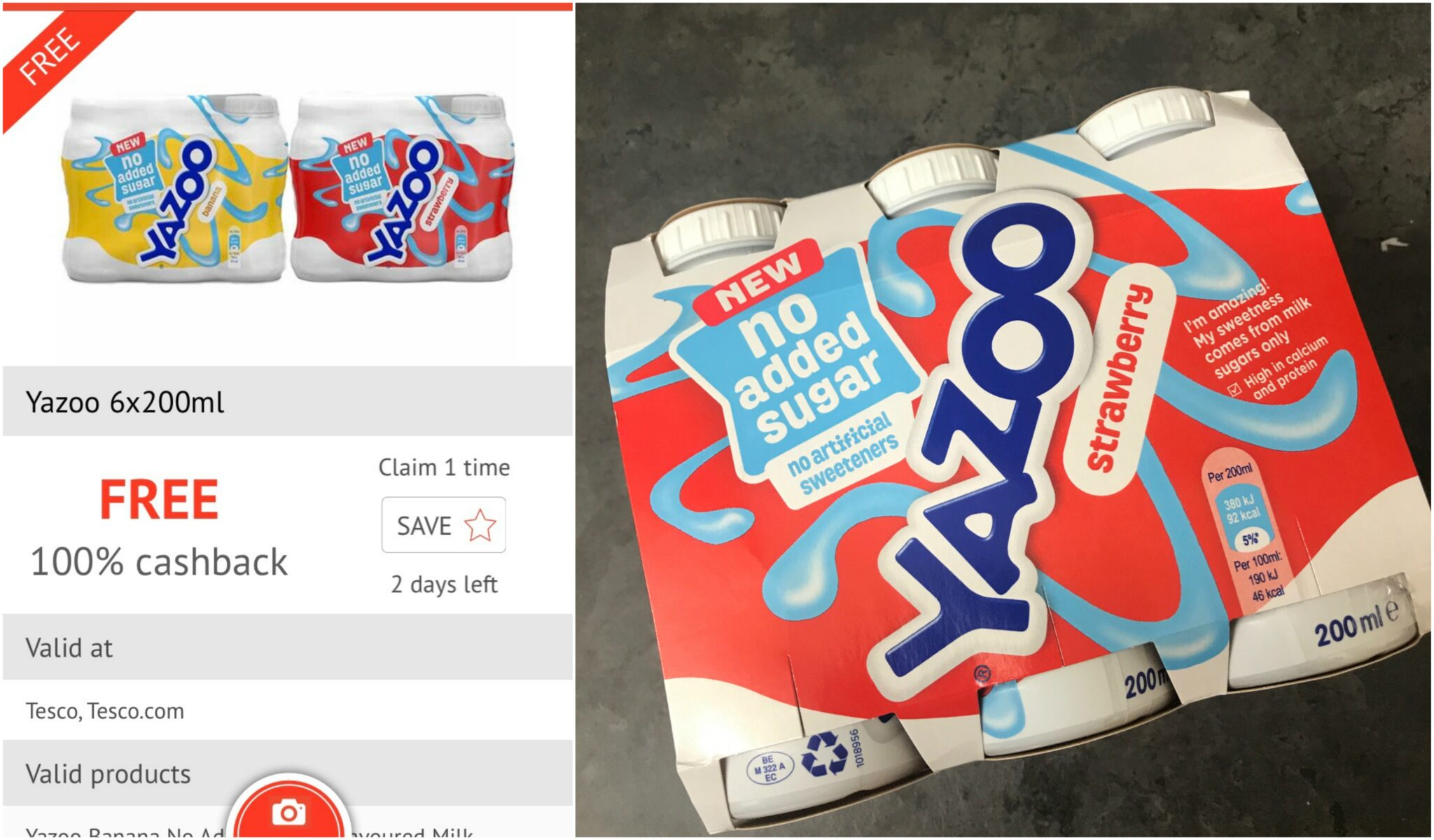 Free pack of Yazoo checkoutsmart app