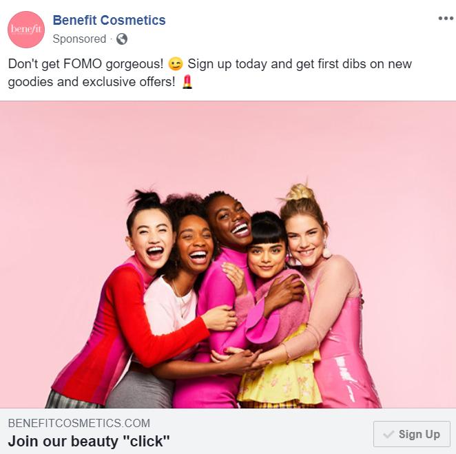 Facebook freebie sponsored post