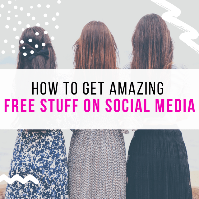 how to get free stuff on social media