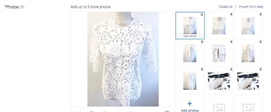 zara white top ebay