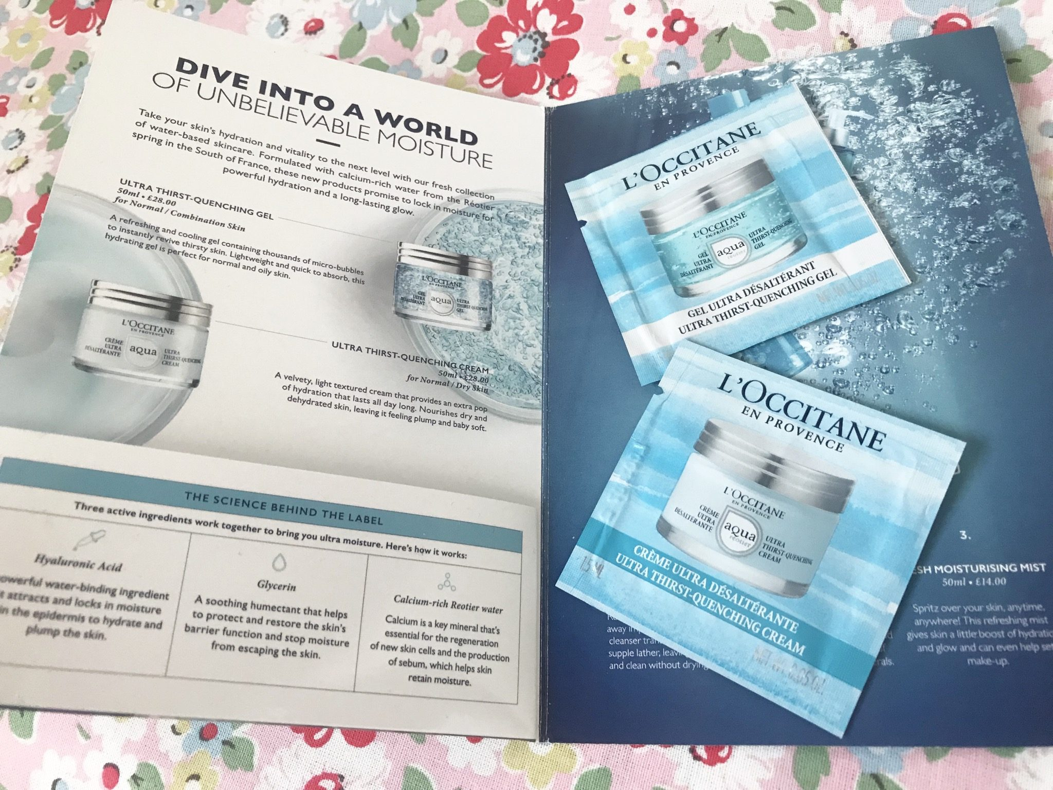 free l'occitane sample