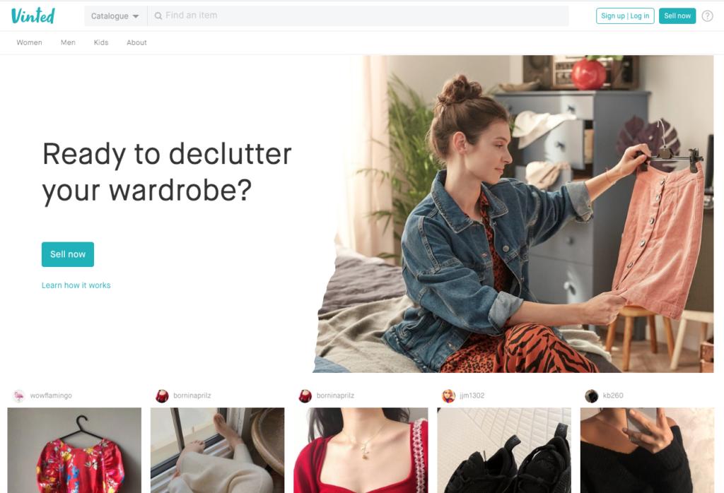 Vinted declutter selling site