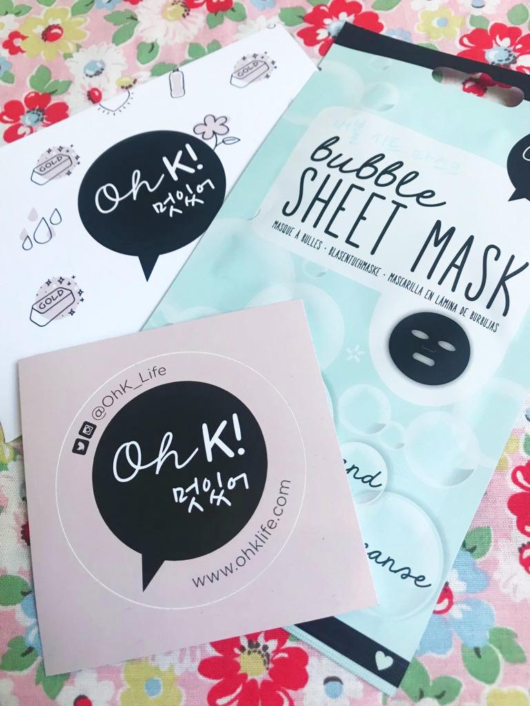 free Oh K! Sheet Mask