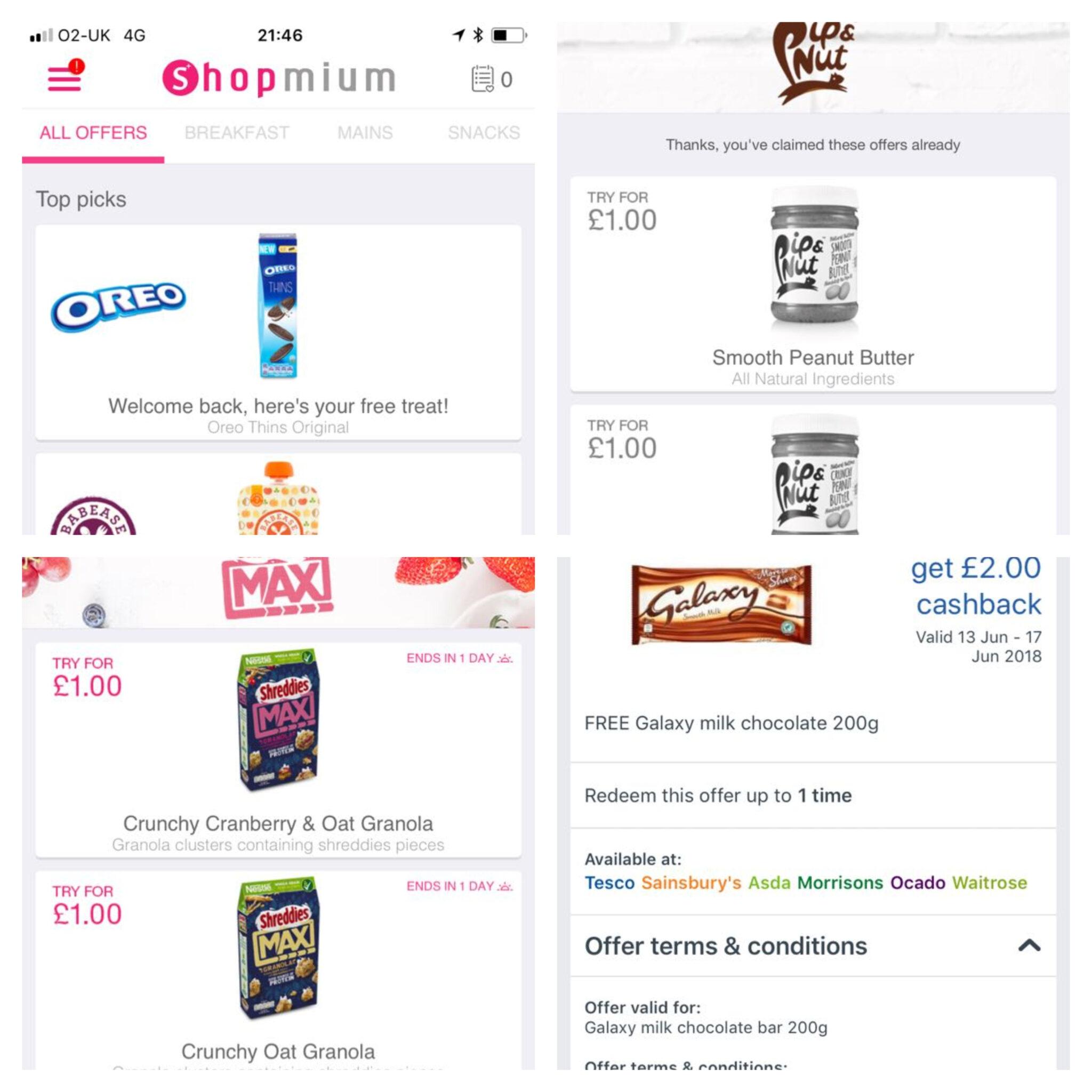 free supermarket cashback deals