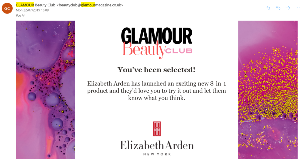 Glamour beauty club free makeup and beauty samples
