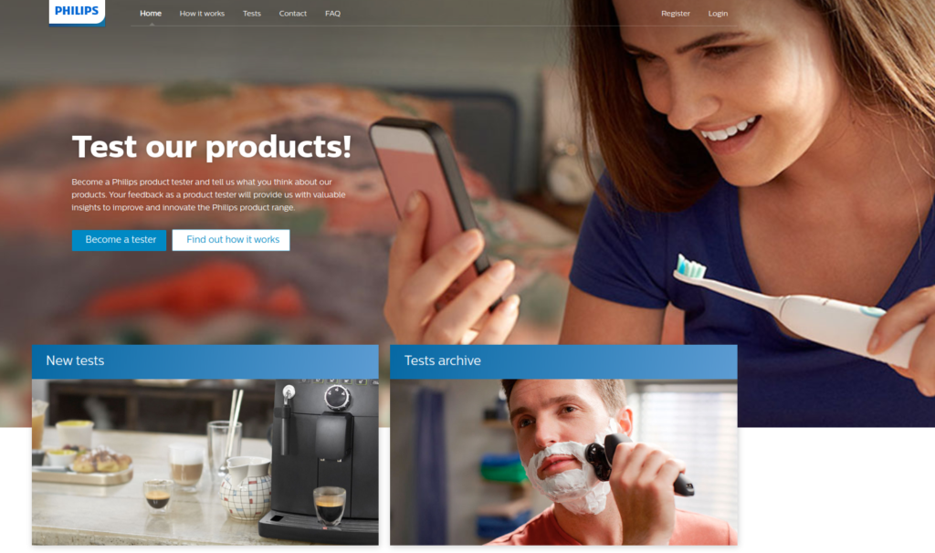 Philips products tester opportunities
