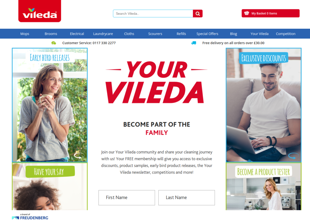 Vileda product testing opportunities