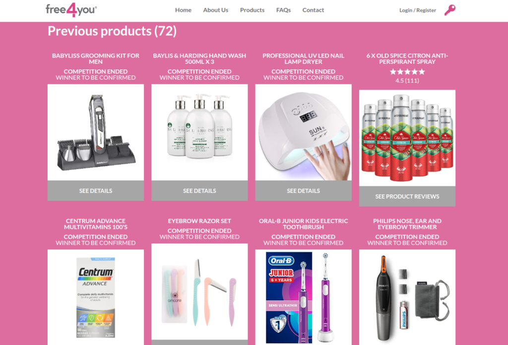 free4you available product testing opportunities