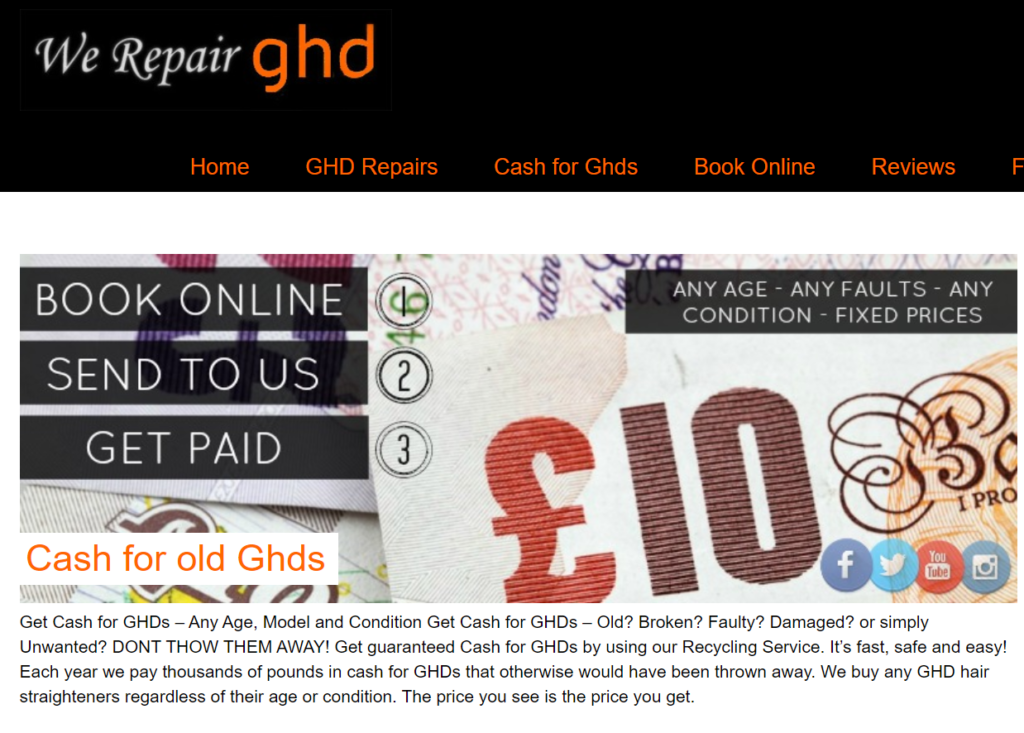 Get paid for old GHDs
