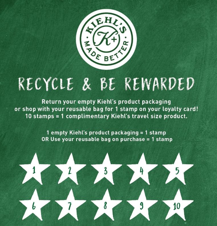 Kiehl's recycing program