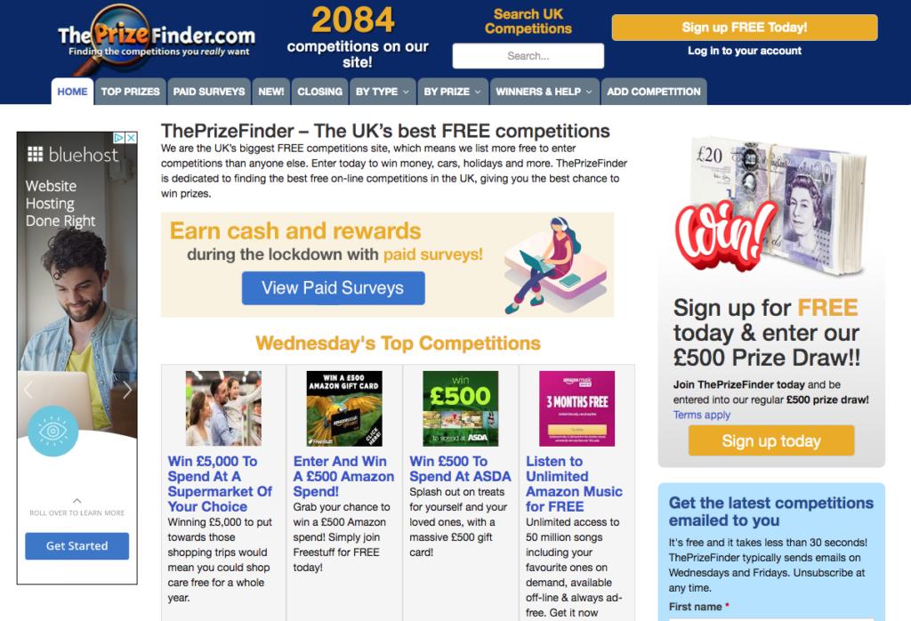 Prize Finder freebies