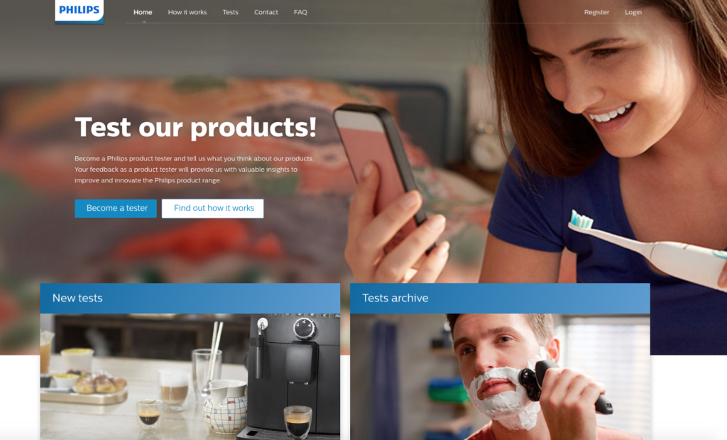 philips product testing free stuff